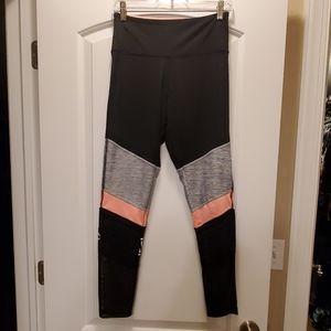 Pink Yoga Leggings mesh/black/peach/texture medium